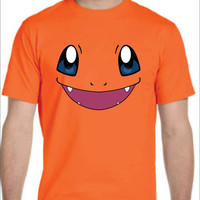 Inspired by Charmander face Pokemon T-shirt Men's Women's kids