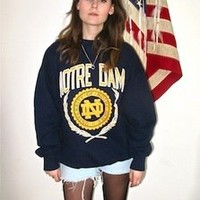 London Loves LA — Navy Notre Dame sweatshirt