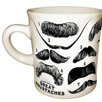 Great Mustaches Mug - Seen on Modern Family - Famous Mustaches