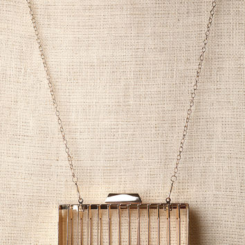 Open Metal Cage Crossbody Bag