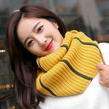 Women Thick O-ring Knitted Collar Scarves