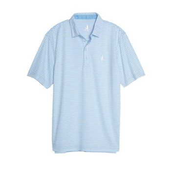 Bunker Striped Prep-Formance Polo in Freedive by Johnnie-O