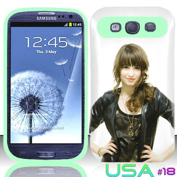 USA Design #18 - Samsung Galaxy S3 Glow in Dark Case # Demi Lovato @ Cover for Galaxy S3 i9300 case