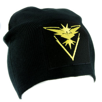 Team Instinct Yellow Pokemon Go Beanie Alternative Style Clothing Knit Cap