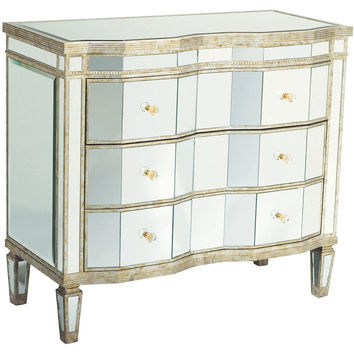 Kingston Mirrored Dresser, Silver/Gold, Dressers