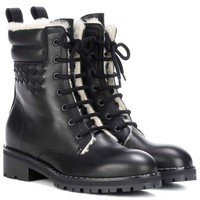 Intrecciato leather ankle boots