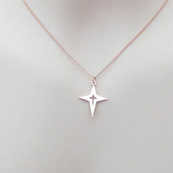 The North Star, Rose gold, Necklace, The Pole Star, Necklace, Lovers, Best friends, Mom, Sister, Gift, Accessory, Jewelry