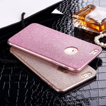 Glitter Bling Shinning Sparkling Girl's soft Gel TPU Soft case cover For Apple iphone 5 5S SE / 6 6s / 6 7 Plus 6S Plus