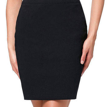 Women Skirts 2017 Stretchy Hips Wrapped Grey Black Pencil Skirt Faldas Sexy High Waist Mini Skirt