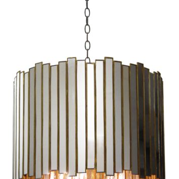 Oly Studio Grayson Reclaimed Mirror & Brass Chandelier