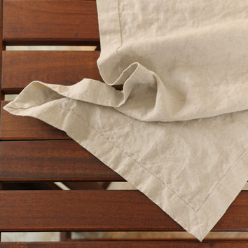 Mitered border Linen Table Runner