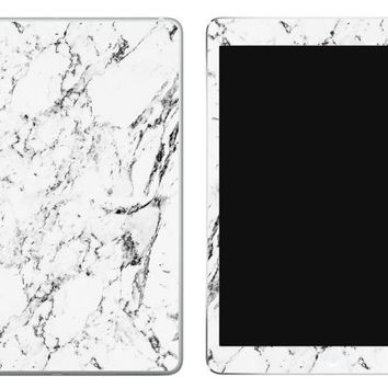 White Marble iPad Decal Skin iPad decal sticker iPad Cover Flowers Mint Blue iPad Mini skin iPad Air skin