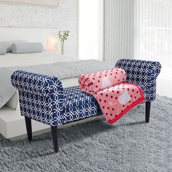 """53.5"""" Bed Bench Rolled Arm Sofa Chair Home"""