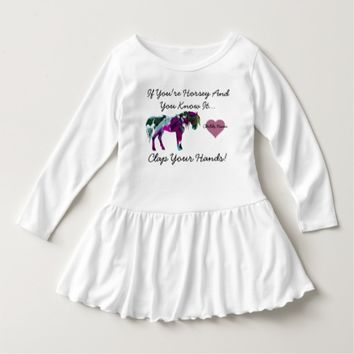 Horse Toddler Dress - Pink Personalized