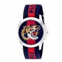 Perfect GUCCI Ladies Men Tiger Embroidery Watches Wrist Watch