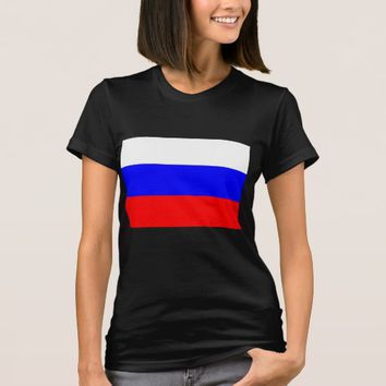 Women T Shirt with Flag of Russia