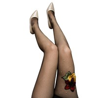 Embroidered Fishnet Stockings