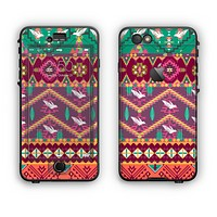 The Vector Aztec Birdy Pattern Apple iPhone 6 Plus LifeProof Nuud Case Skin Set