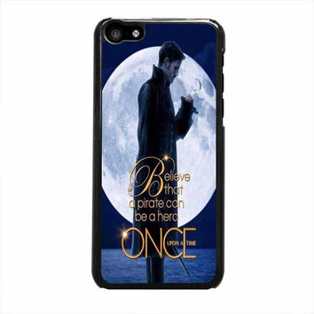 once upon a time captain hook believe iphone 5c 5 5s 4 4s 6 6s plus cases