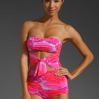 Nanette Lepore Palm Beach Tropical Seductress RUNWAY One Piece in Hot Coral from REVOLVEclothing.com