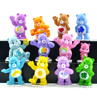 Kawaii 12pcs/set care bears Japanese original anime figure kids toys for children girls