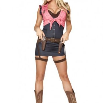 Blue Red 7 Pc Cowgirl Cutie Costume @ Amiclubwear costume Online Store,sexy costume,women's costume,christmas costumes,adult christmas costumes,santa claus costumes,fancy dress costumes,halloween costumes,halloween costume ideas,pirate costume,dance cost