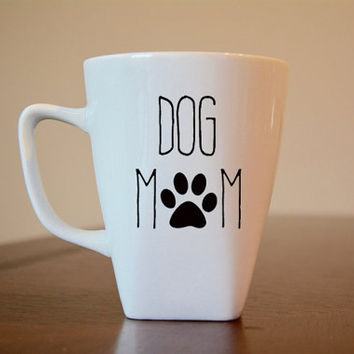 Dog Mom Coffee Mug, Dog Lovers Coffee Mug, Dog Mom Mug, Dog Mom Vinyl Decal Coffee Mug, Dog Lovers Gift, I Love My Dog Gift