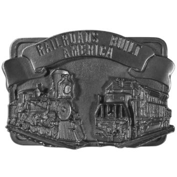 Sports Accessories - Railroad Antiqued Belt Buckle