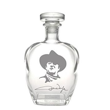 Rolf Glass John Wayne Signature Whiskey Decanter, 23 oz, Clear