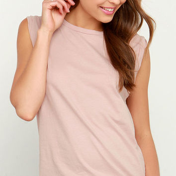 Make a Pact Blush Muscle Tee