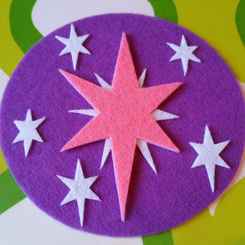 Twilight Sparkle Cutie Mark - My Little Pony Equestria Girls Sticky Felt Patch / Sticker / Magnet