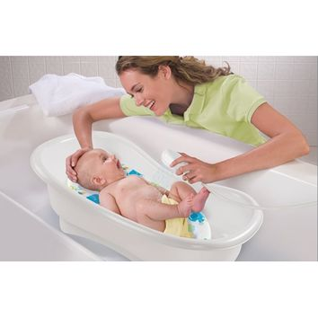 Newborn Infant Baby to Toddler Bath Tub or Seat Center Station with Storage & Shower