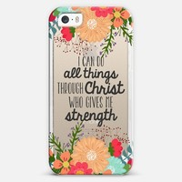 I Can do All Things iPhone 5s case by The Olive Tree | Casetify