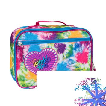 GIRLS' TWINKLE TOES: TIE DYE LOVE INSULATED LUNCH BOX