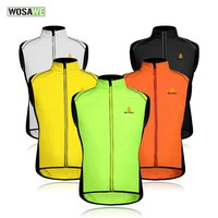 WOSAWE Reflective Men Cycling Vest Coat Breathable Sleeveless Jacket Sport Outerwear Coats Windproof Waterproof Clothes K2016
