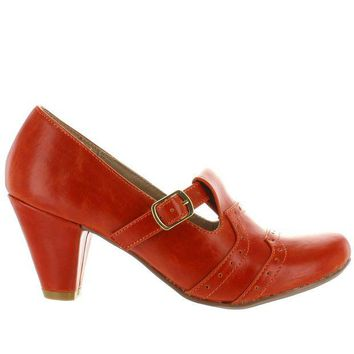 VONES2C Chelsea Crew Miller - Orange Retro Buckle Pump