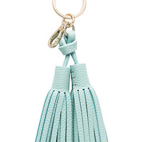 Kate Spade Leather Double Tassel Keychain
