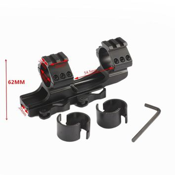 Quick Release Scope Mount 25.4mm 30mm Dual Ring Cantilever Rifle scope Mount  Picatinny Weaver Rail Hunting Caza