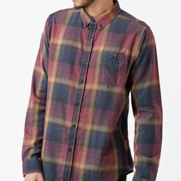 DCCKJH6 Ezekiel Connor Plaid Flannel Long Sleeve Button Up Shirt