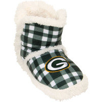 Women's Green Bay Packers Flannel Sherpa Boot Slippers