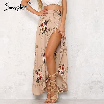 floral print long skirts