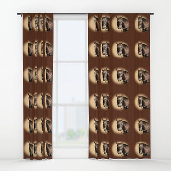 Season of the Horse - Pudding Window Curtains by michael jon