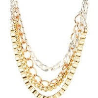 Multi Layered Mixed Chain Necklace by Charlotte Russe
