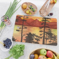 Sunset Cutting Board by savousepate