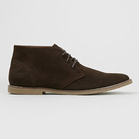 'Trigger Chukka' Chocolate suedette lace up chukka boots