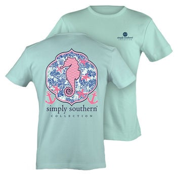 Simply Southern Seahorse Tee - Mint