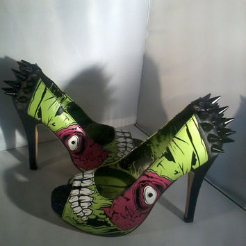 Spiked Zombie High Heels