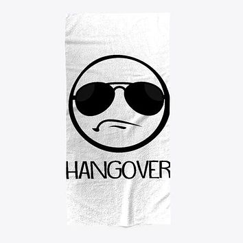Hangover Sunglasses Funny Beach Towel
