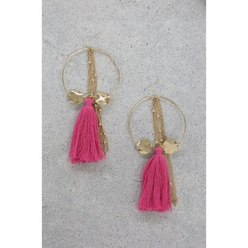 That Time of Year Earrings in Pink and Gold