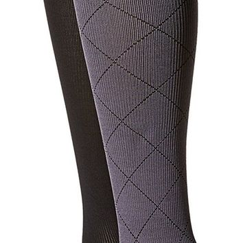 CREYIX5 Women's Compression Socks By Dr.Motion 2-Pair Pack Set
